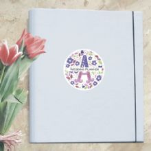 A4 Luxury Wedding Planner/Organiser Personalised with Your Initial - Ideal Engagement Gift